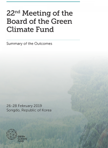 Summary of 22nd Meeting of the GCF Board - February 2019